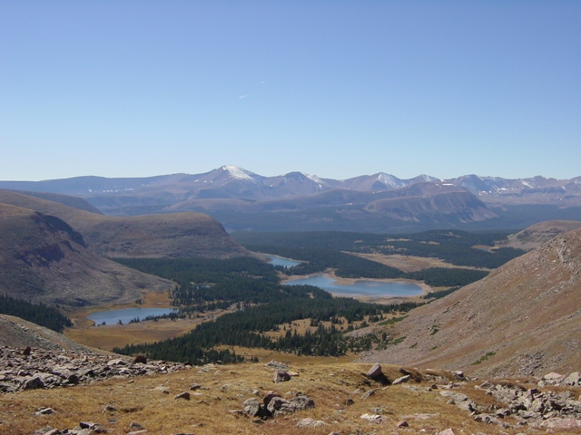 Fox and Brook Lakes from North Pole Pass